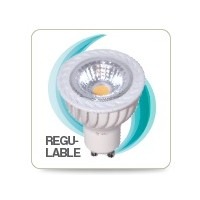 LAMPARA DICROICA LED COB 6W GU10 6000K REGULABLE
