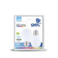 PACK 2 LAMPARAS ESFERICAS LED 5W E27 6000K