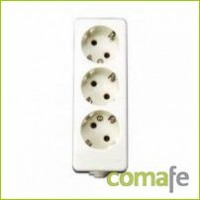 BASE MULTIPLE 3TOMAS T/T S/CABLE TY652