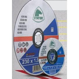 DISCO CORTE INOX STANDARD STAYER 115X1,0X22.2